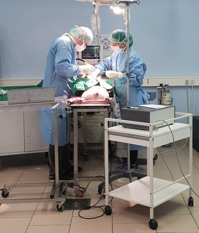 Operationssaal der Tierklinik Wels